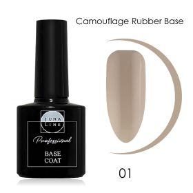 Базовое камуфлирующее покрытие для гель-лака LUNA LINE Camouflage Rubber (10 ml) №1