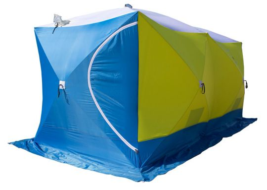 Палатка зимняя Стэк КУБ 3 трехслойная ДУБЛЬ Т 420*220*205