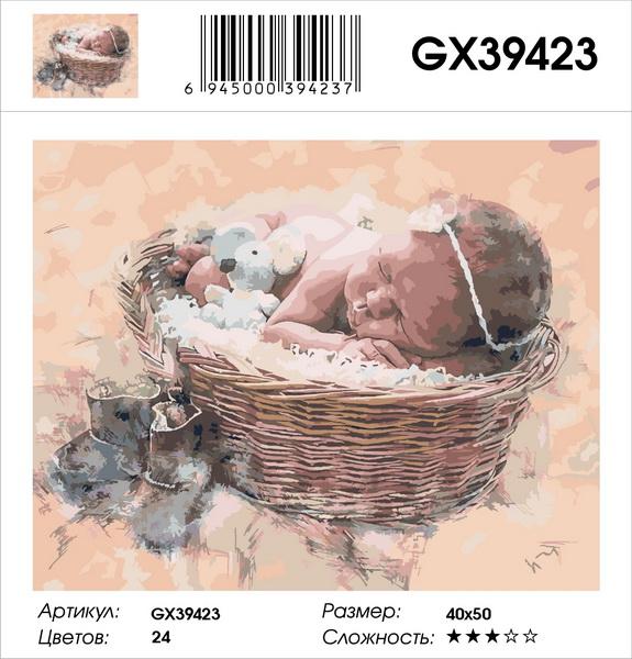 Картина по номерам на подрамнике GX39423