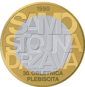 30 лет со дня  референдума о независимости  3 евро Словения 2020