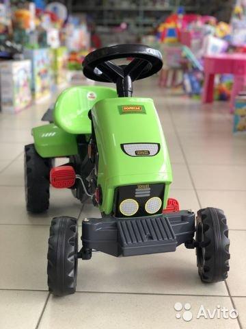"""Каталка-трактор с педалями """"Turbo""""-2 с полуприцепом"""