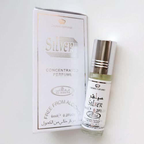 Арабские масляные духи Silver | Серебро | 6 мл | Al-Rehab | Унисекс