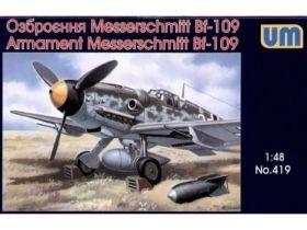 Навесное вооружение и оборудование на Мессершмитты 109