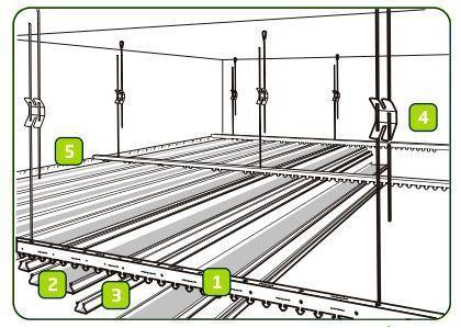 Реечный потолок подсистема