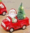 """Ночник новогодний машина """"Санта с елкой"""""""