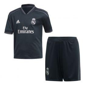 Детская выездная форма Реал Мадрид (Real Madrid) сезон 2018-2019 черная