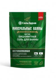 Чистая бишофитная соль для ванны СольЗдрав, 600 г