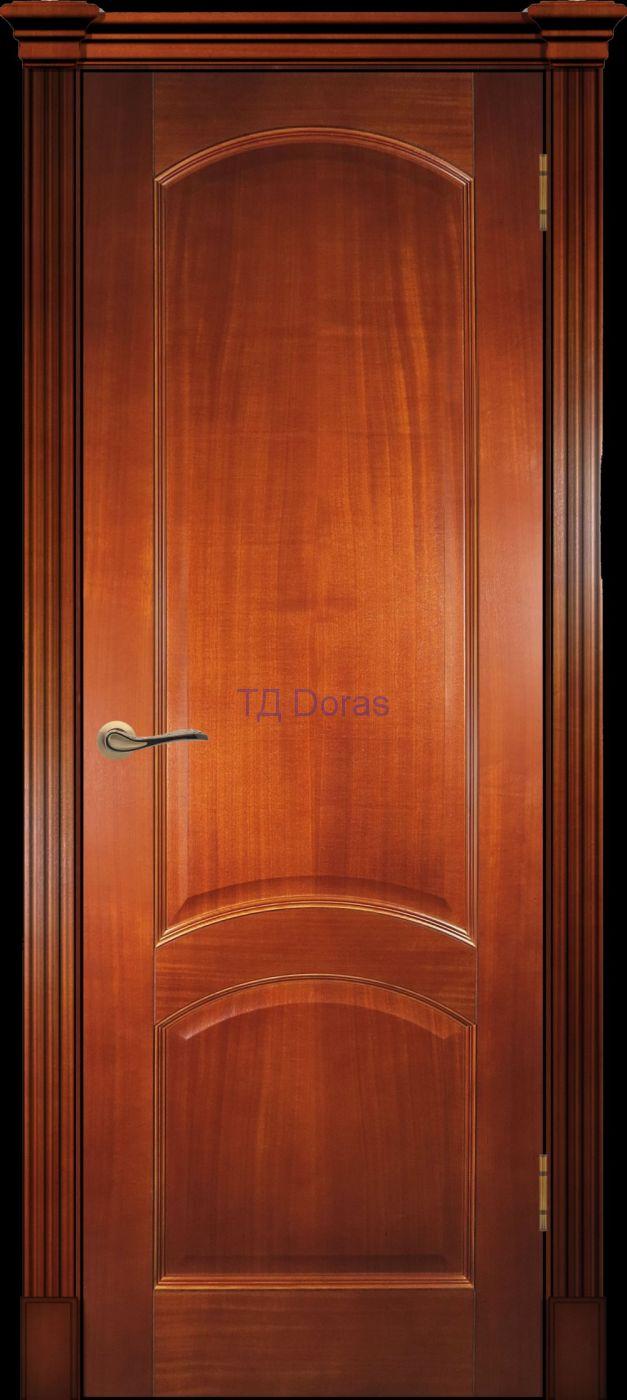 Калевочная межкомнатная дверь «Леон К» шпон Ясень, цвет Темный анегри, глухая