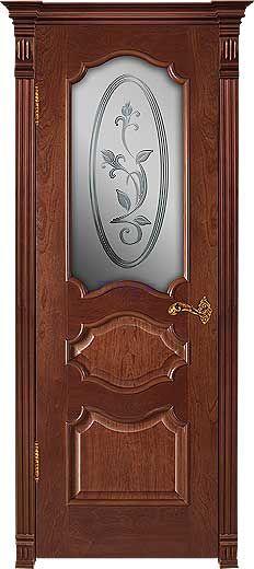 Межкомнатная дверь СОФИЯ+, шпон Ясень, цвет Миланский орех, стекло АП 9
