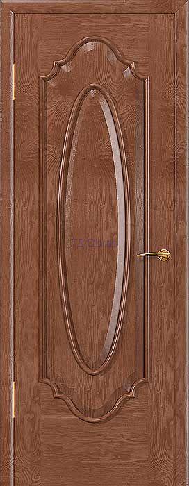 """Межкомнатная дверь """"Престиж 2"""", шпон Ясень, цвет Орех светлый, глухая"""