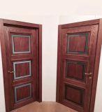 """Межкомнатна дверь """"Роксана 3"""" массив в ПВХ покрытии, цвет Дуб шале мореный, стекло сатина тонированный"""
