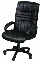 Кресло офисное для руководителя Форт 5(5) бежевый кожзам
