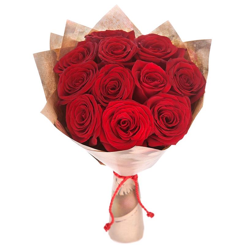 Розы Эквадор красные 60 см от 11 штук в упаковке