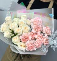 Бело-розовый дуо букет
