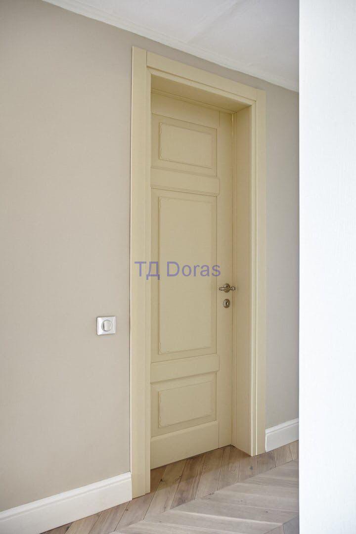 """Межкомнатна дверь """"Ева 5"""" массив в ПВХ покрытии ПВХ, цвет Софт топленое молоко, глухая"""