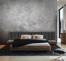 Кровать ORLY ARTE с широким изголовьем 180х200 орех