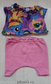 Штаны и кофта с пони для Ли-ли 27см