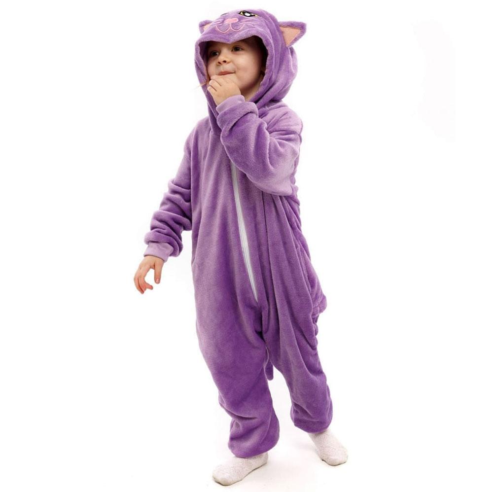 Детская Пижама Кигуруми Кошка Фиолетовая
