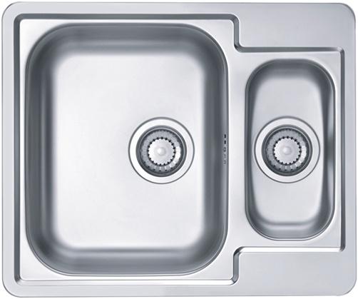 Интегрированная кухонная мойка ALVEUS Line 50 61.5х50см