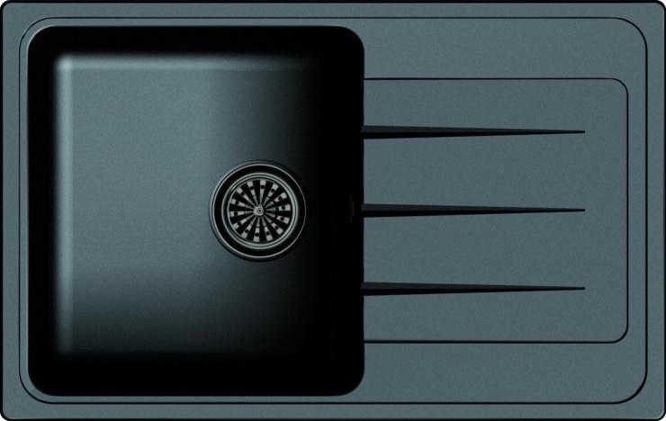 Врезная кухонная мойка Ewigstein Elegant 50F 76.2х48см
