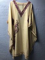 Кремовое платье свободного размера, купить в Москве