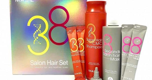 Набор для волос MASIL 38 Salon Hair Set (Big) (mask 200 мл+8 мл*2+ shampoo 300 мл+8мл*2)