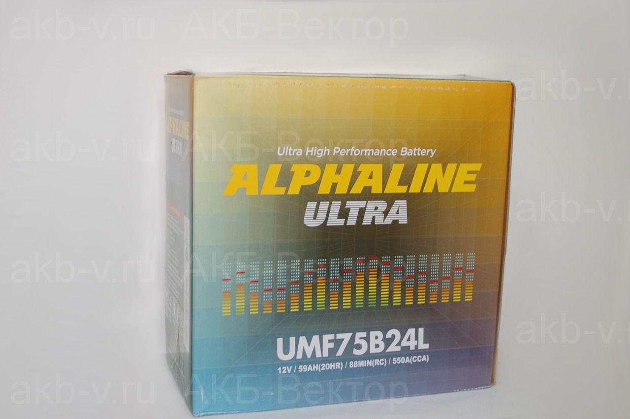Alphaline Ultra 59Ач 550А(CCA) 75B24(L/R)