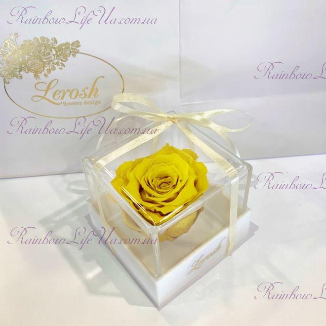 "Бутон розы в коробке желтая ""Classic"""