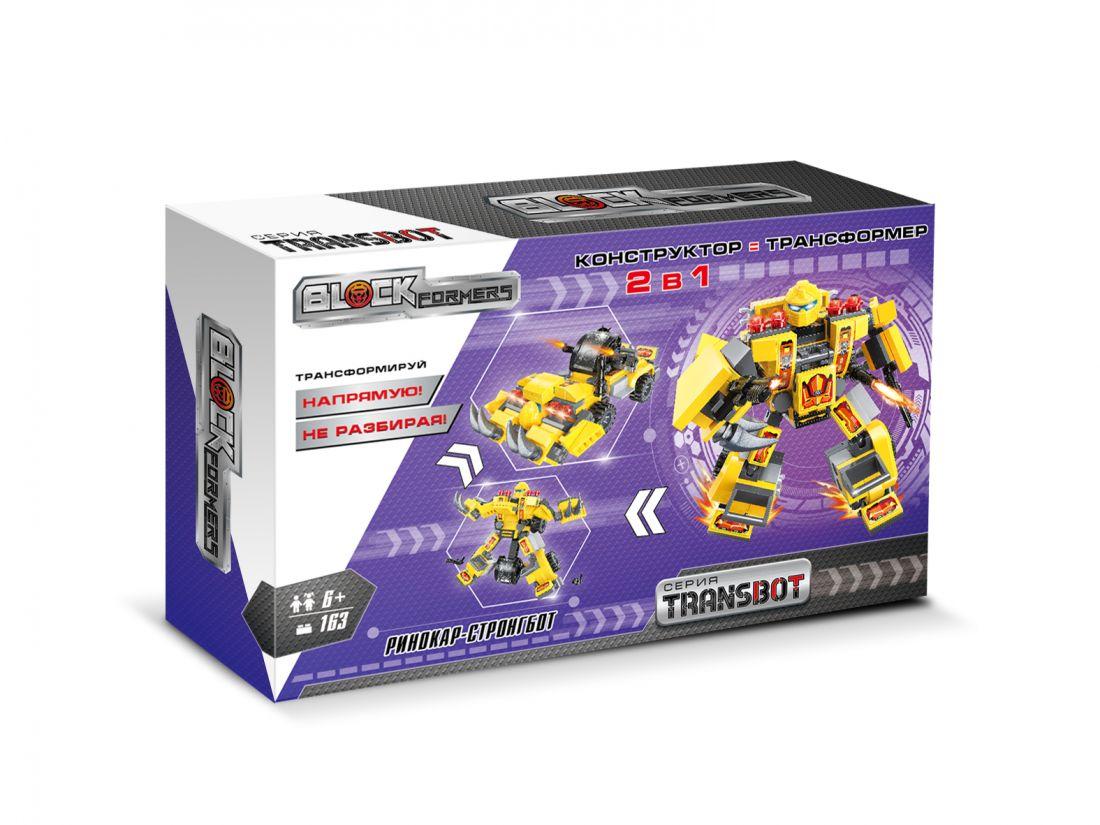 1TOY Blockformers Transbot конструктор  Ринокар-Стронгбот , коробка