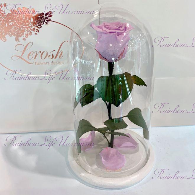 """Роза в колбе лиловая 27 см """"Classic"""""""