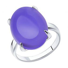 Кольцо из серебра с родированием с кварцем 83010075 SOKOLOV