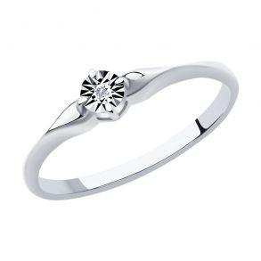 Кольцо из серебра с бриллиантом 87010048 SOKOLOV