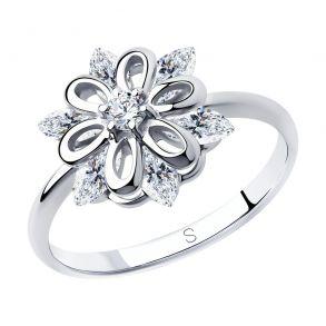 Кольцо из серебра с фианитами 94012980 SOKOLOV