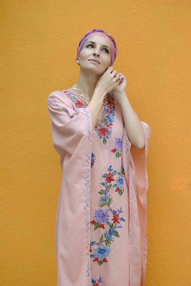 Нежное свободное платье с вышивкой, розового цвета (Москва)