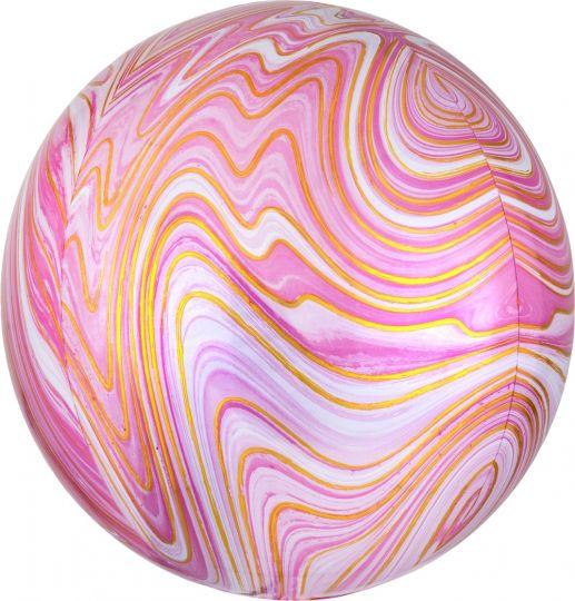 Розовая сфера 3d Золотая Нить шар фольгированный с гелием