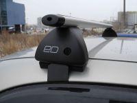 Багажник на крышу Kia Optima IV (2015-...) , Евродеталь, аэродинамические дуги