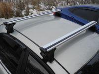 Багажник на крышу Kia Optima IV (2015-...), Евродеталь, крыловидные дуги