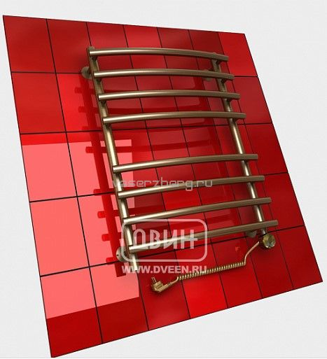 Бронзовый электрический полотенцесушитель Двин R primo electro 100/50
