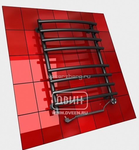 Черный электрический полотенцесушитель Двин R primo electro 100/50