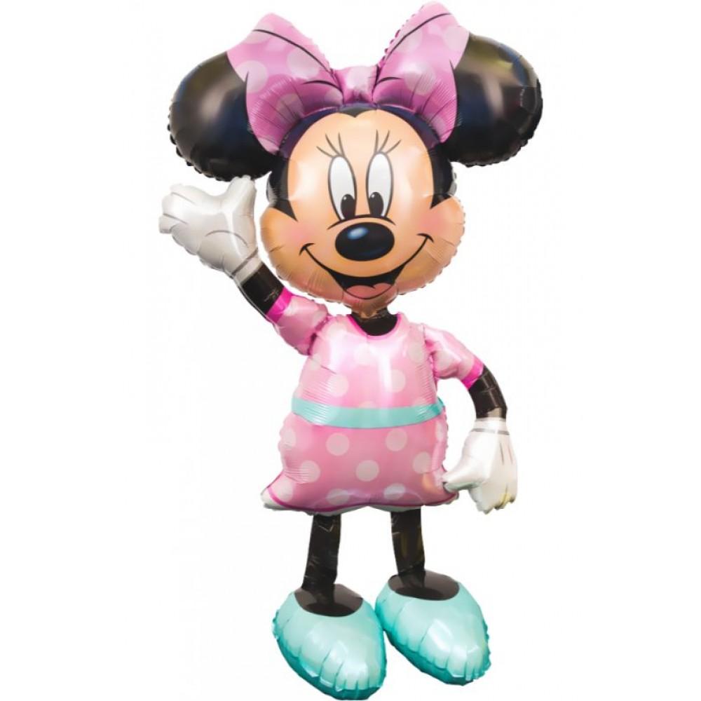 Минни Маус ходячий шар фольгированный с гелием