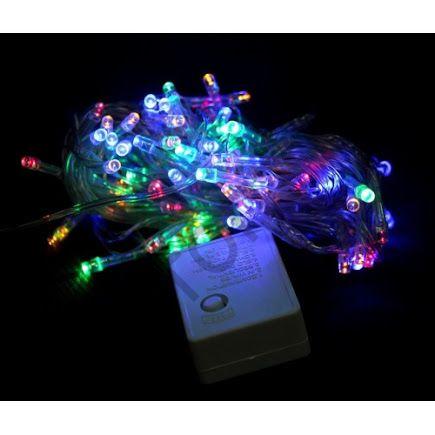 Гирлянда прозрач. кабель (светодиод) 180 ламп цветная LED-8014