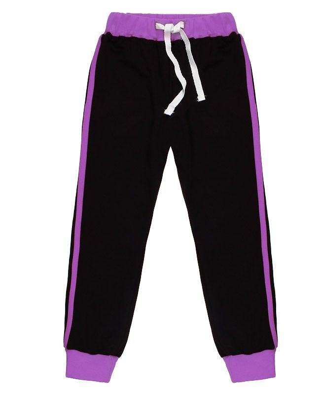 Чёрные спортивные брюки для девочки