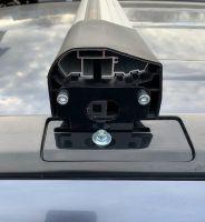 Багажник на крышу Honda CR-V (2007-11), Lux Bridge, крыловидные дуги (черный цвет)