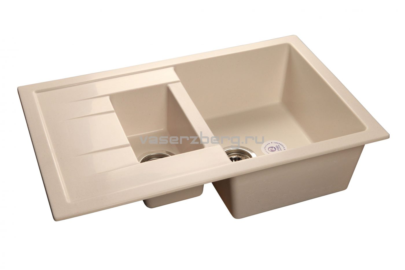 Мраморная мойка GranFest Quadro GF-Q775KL Белый