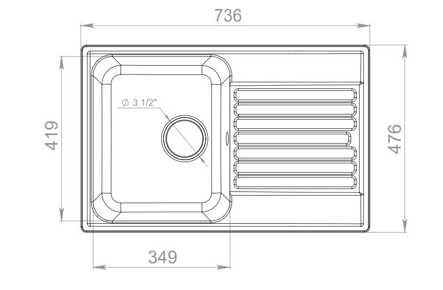 Кухонная мойка GranFest Quarz Z-78 Серый