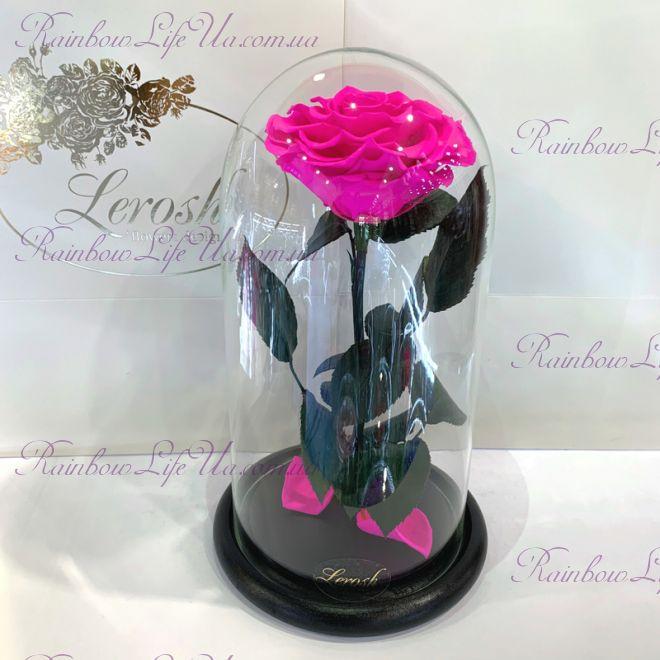 """Роза в колбе 27 см фуксия """"Premium"""""""