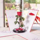 """Роза в колбе бордовая 33 см """"Lux"""""""