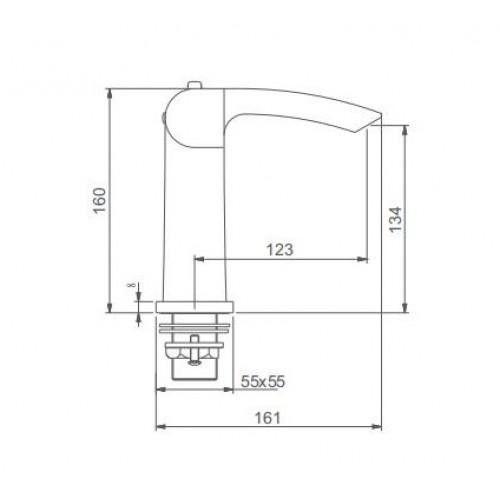 Смеситель для раковины с термостатом Gappo G1007-50