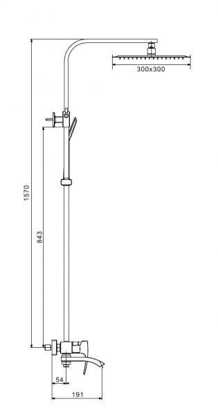 Душевая стойка со смесителем Gappo Jacob G2407-4