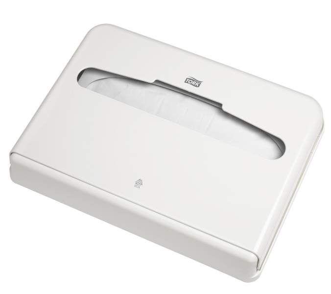Tork диспенсер для бумажных покрытий на унитаз белый, 344080